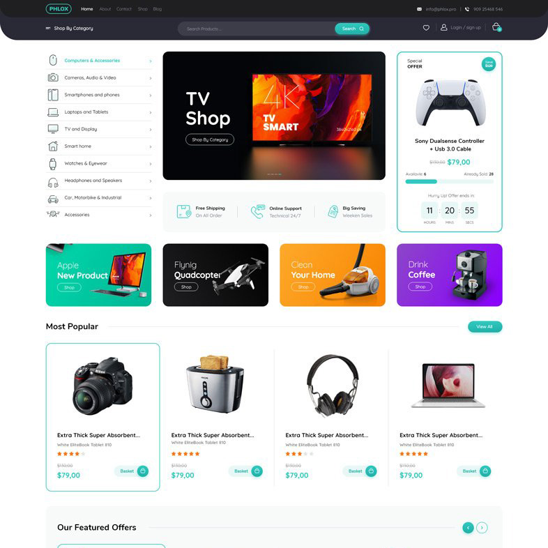 elektronik cihaz satışı web tasarımı
