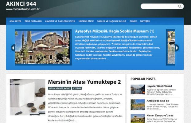 Kişisel Blog Web Sitesi Tasarımı