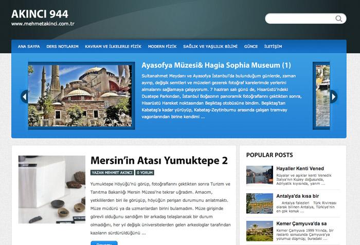 Kişisel blog tasarımı