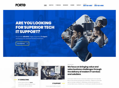 Porto Profesyonel Web Sitesi ve Eticaret Tasarımı